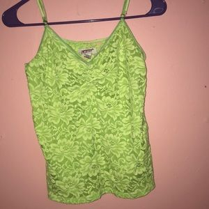 Neon lace tank top